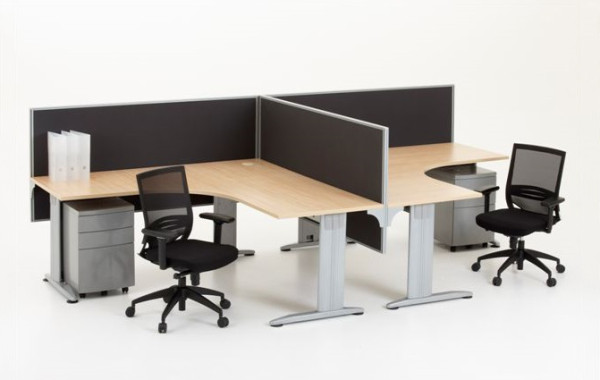 ID: HT WS04, 2 Seater Office Workstation