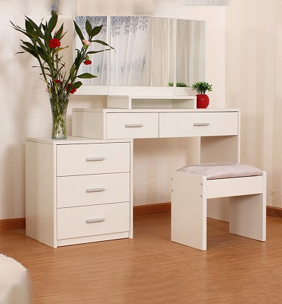 ID: HT DFDT05, White Dressing Table