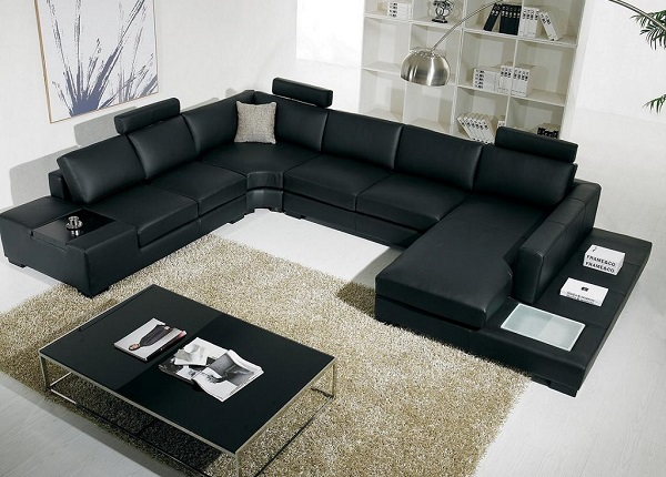 buy large black sofa in lagos nigeria | hitech design furniture ltd