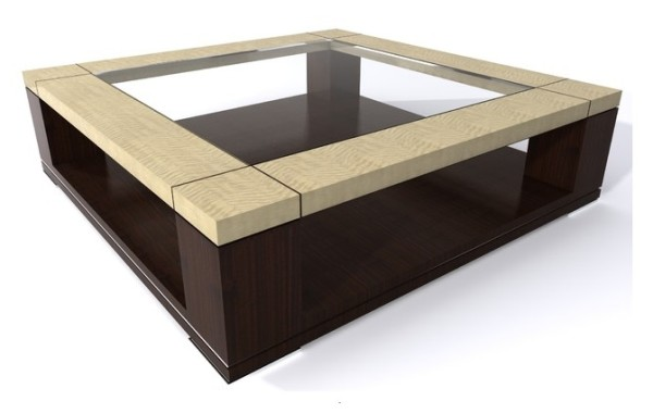 ID: HT COFT12 Glass Top Coffee Table