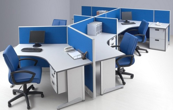 ID: HT WS17, 5 Seater Workstation