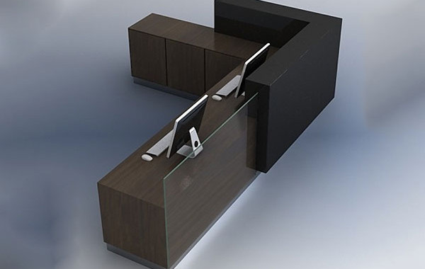 ID: HT RT13, Fashionable Reception L Desk