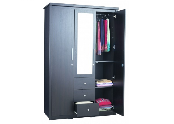 ID: HT WR21, 2 Door Wardrobe + Drawers