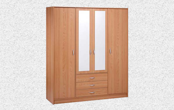 ID: HT WR23, 4 Door 3 Drawer Wardrobe