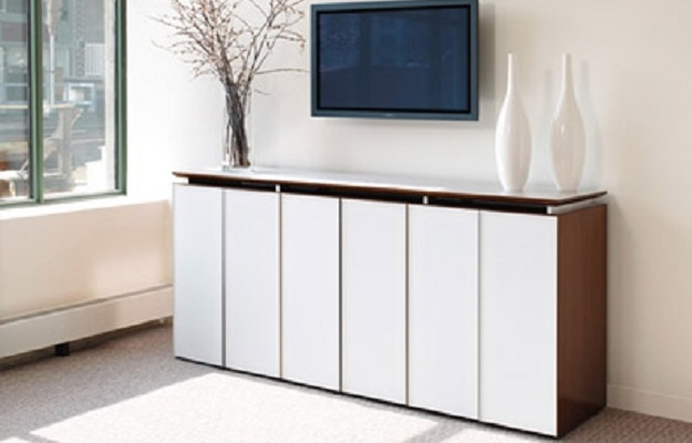 ID: HT CAB17, White Office Cabinet