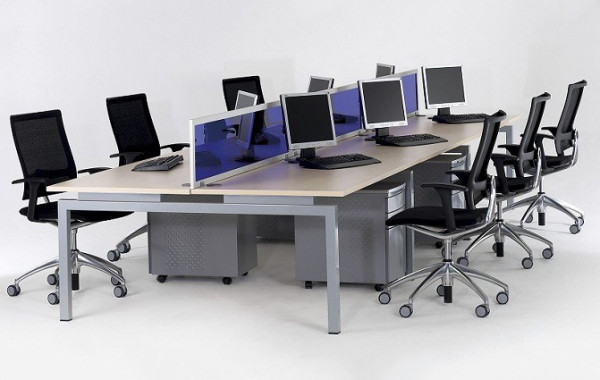 ID: HT WS11, 6 Seater Workstation Table