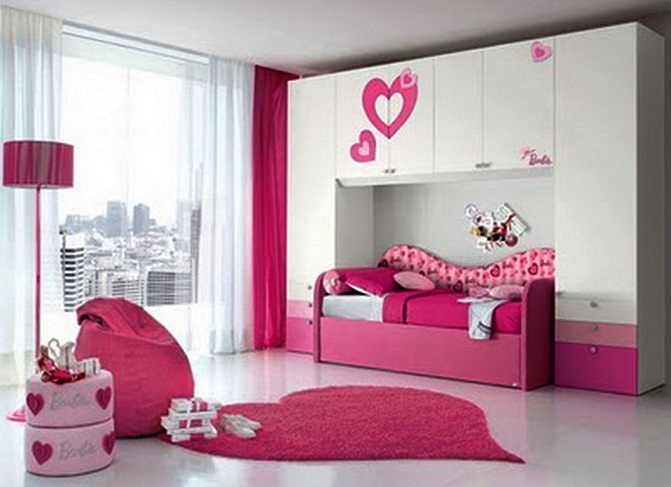 ID: HT DFCF09, Pink Children Bed