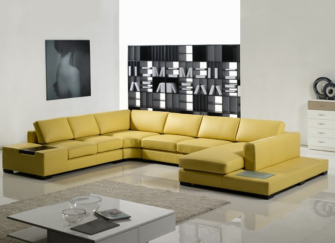 ID: HT SOF07, Yellow Sofa