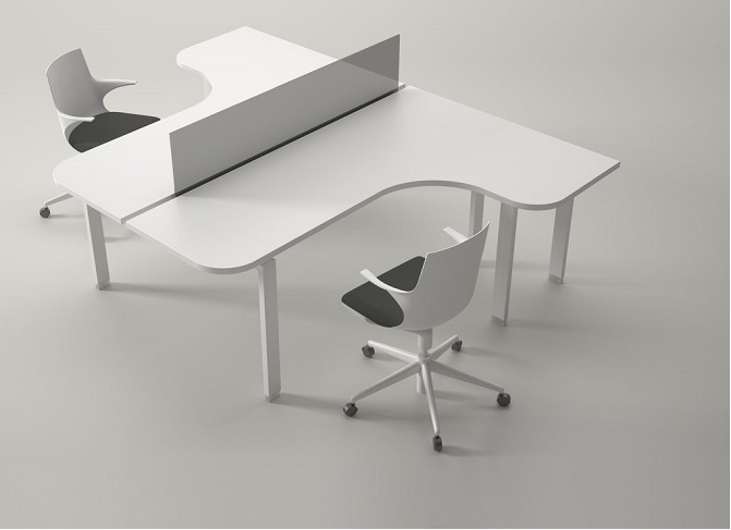 hi tech office products. ID: HT WS05, Elegant Workstation Table Hi Tech Office Products A
