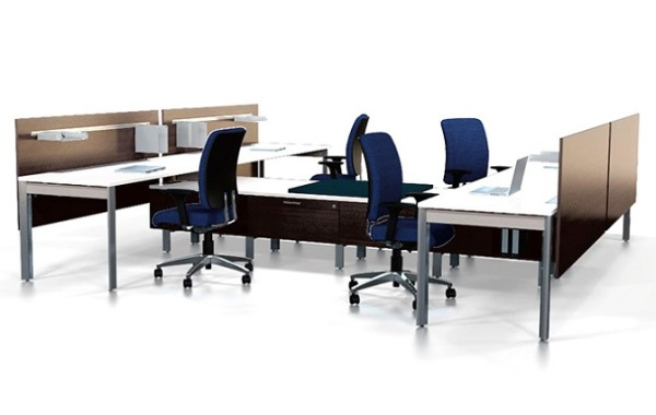 ID: HT WS09, Modern Workstation Desk