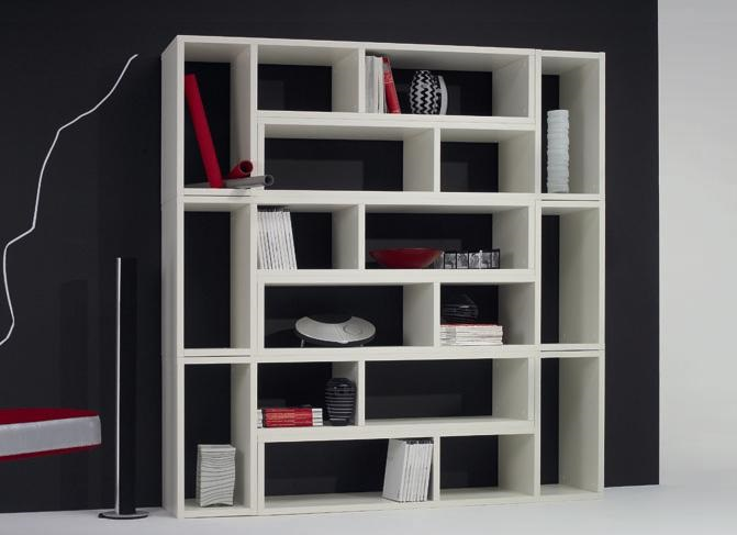 ID: HT BS07, Beautiful White Bookshelf