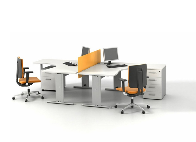 ID: HT WS08, Contemporary Workstation Desk