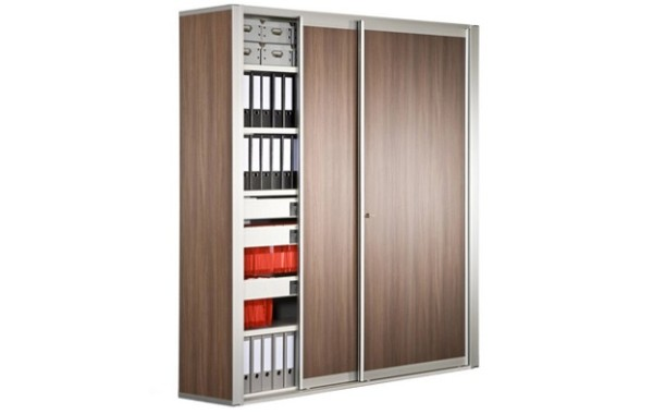 ID: HT CAB05, Brown Office Cabinet