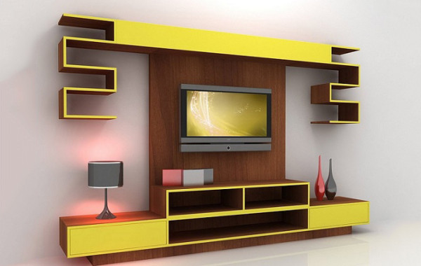 ID: HT TV03, TV Stand with Wall-Mounting