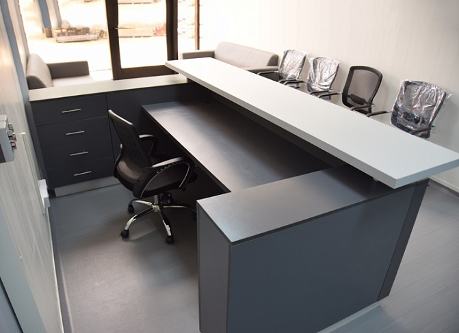 ID: HT RT22, Top Rated Reception Desk