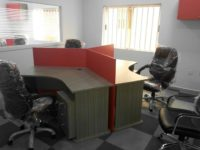 ID: HT WS34, 3 Seater Cubicle Workstation Table