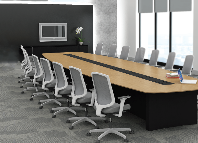 Id Ht Ct33 Oval Shape Conference Table