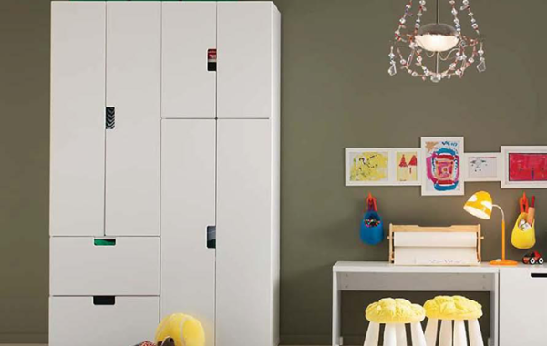 ID: HT OCAB38, White Cabinet