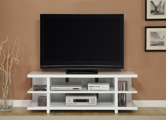 ID: HT TV28, White TV Stand