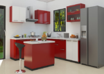 HT CAB103, Red Kitchen Cabinet