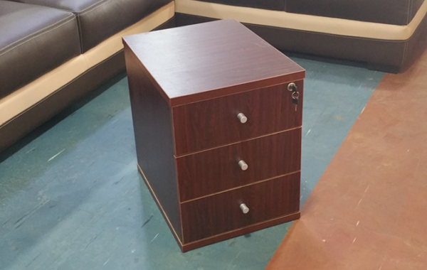 HT MD6 Mahogany Mobile Drawer